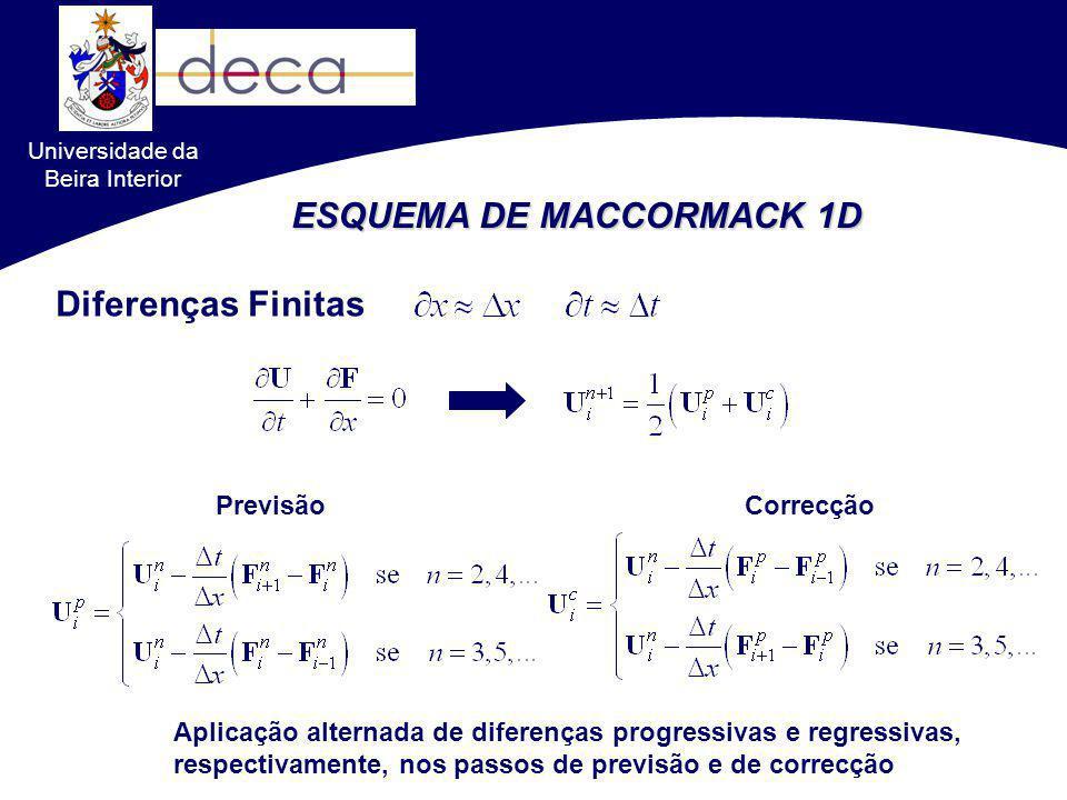 Universidade da Beira Interior CORRECÇÃO DE ALTA RESOLUÇÃO TVD No caso das equações de Saint-Venant 2-D aplicadas a canais com secção rectangular, o cálculo das matrizes Jacobianas resulta nas conhecidas aproximações de Roe direcção xdirecção y