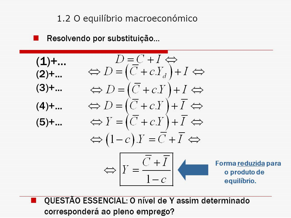Resolvendo por substituição...(1)+... (2)+... (3)+...