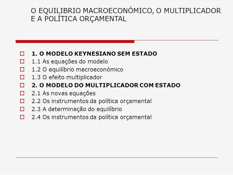 .., 2.5 Os instrumentos da política orçamental e o nível de actividade económica Manipulando os instrumentos Podemos melhorar o nível de actividade económica em direcção ao pleno emprego.
