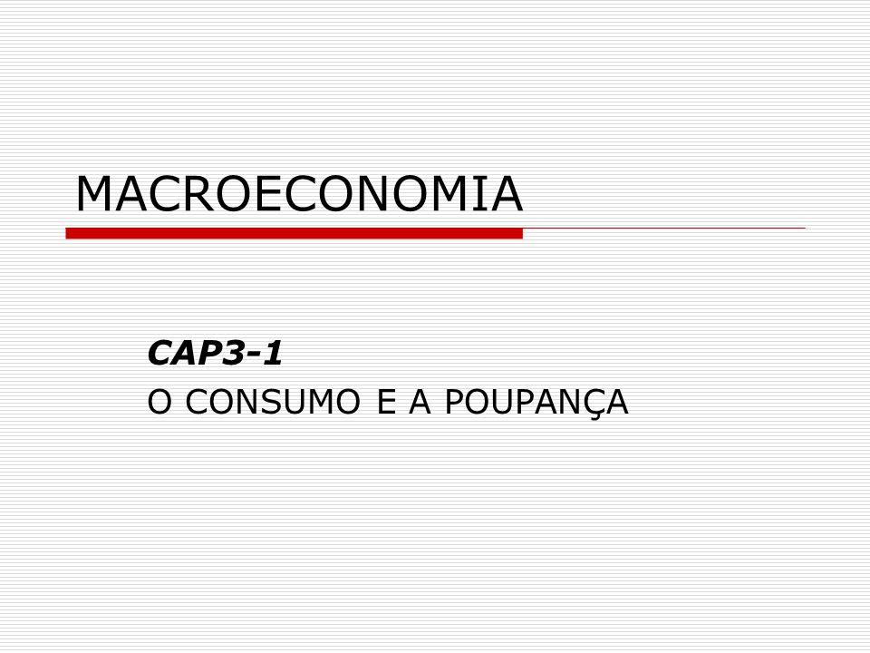 MACROECONOMIA CAP3-1 O CONSUMO E A POUPANÇA