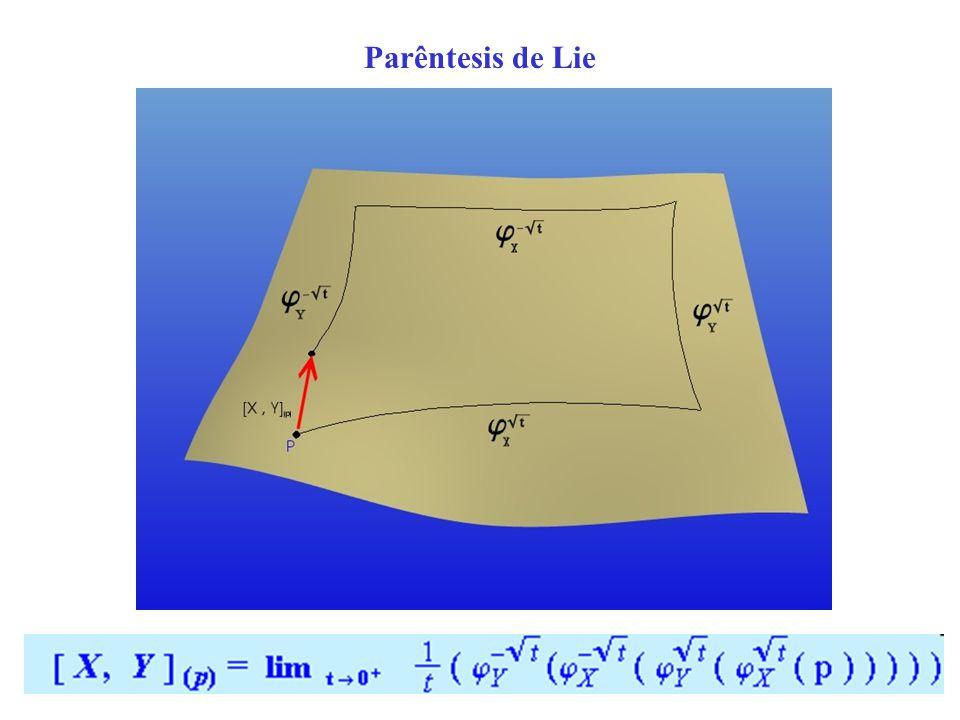 Campo Vectorial Um campo vectorial V numa variedade M é: M x V| x espaço tangente a M no ponto x Exemplo: SO( 2 )