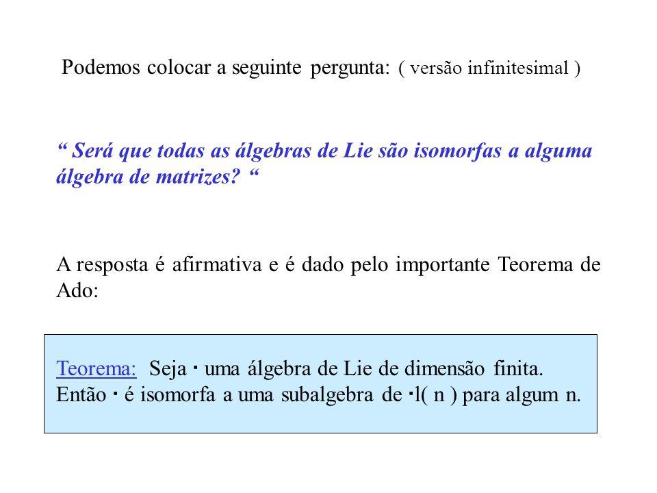 GL( n ) = matrizes n n invertíveis.