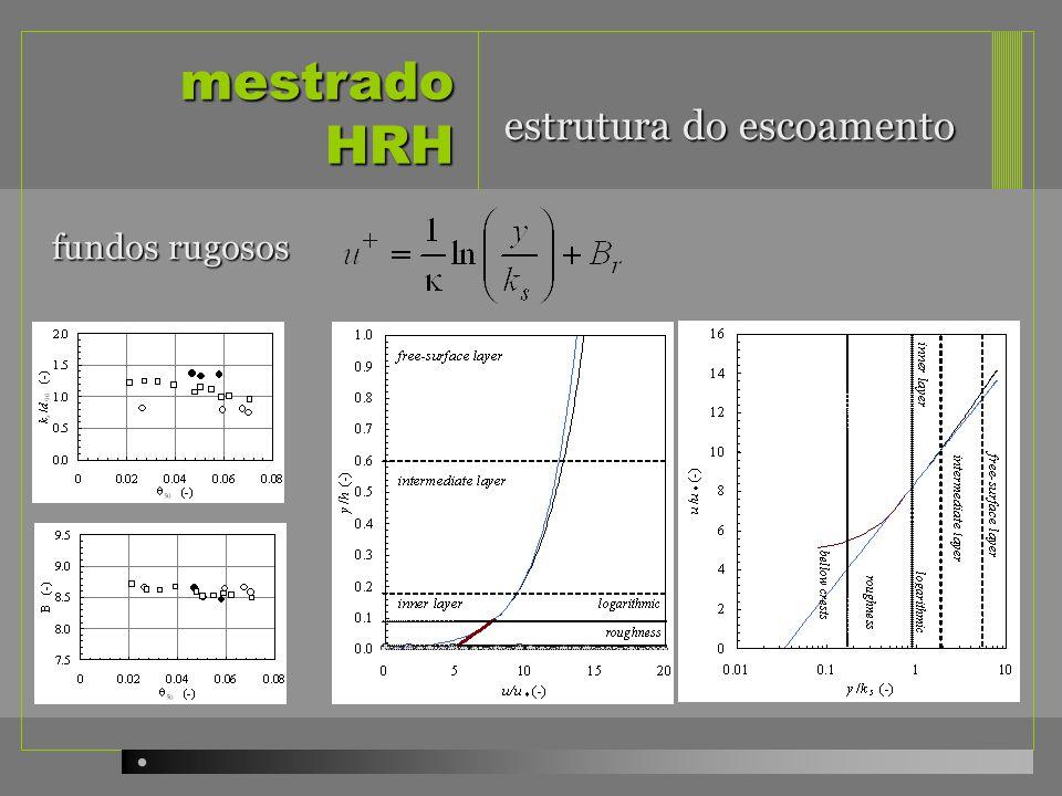 mestrado HRH fundos rugosos estrutura do escoamento