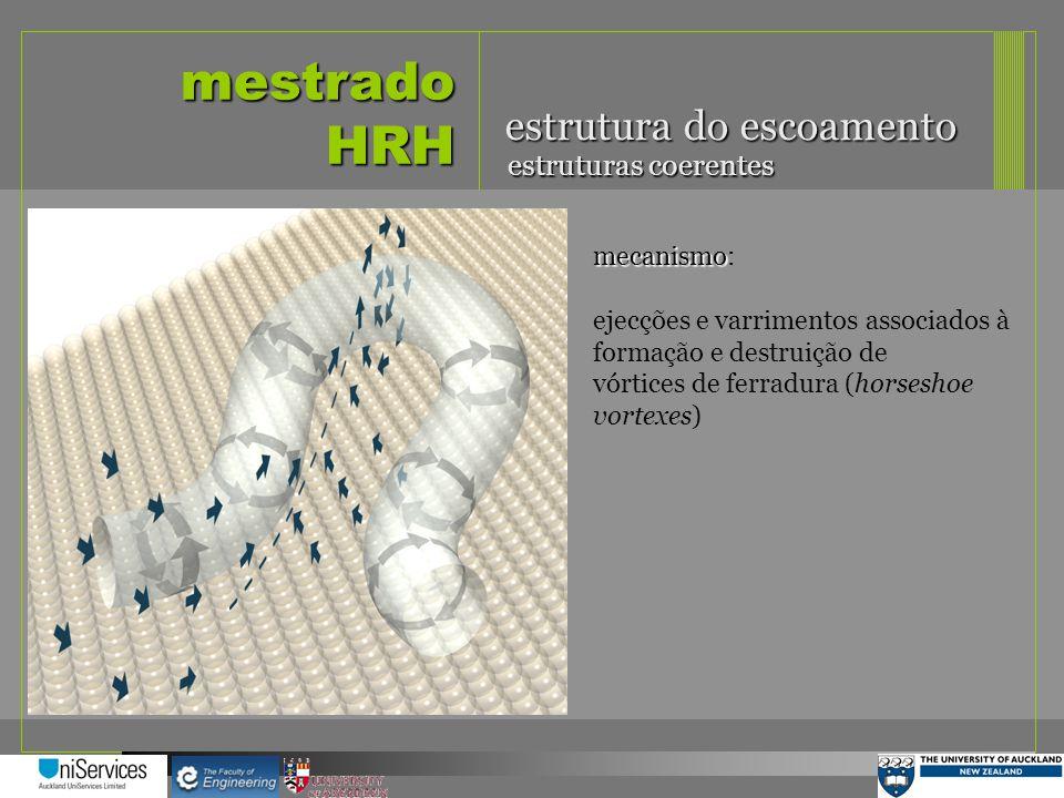 mestrado HRH estrutura do escoamento estruturas coerentes mecanismo mecanismo: ejecções e varrimentos associados à formação e destruição de vórtices d