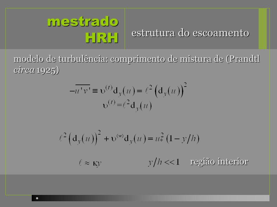 mestrado HRH início do transporte escala do grão estabilidade: influência da distribuição granulométrica: as acções hidrodinâmicas têm valor e variabilidade distintas dependendo do tamanho relativo das partículas face à espessura da subcamada viscosa