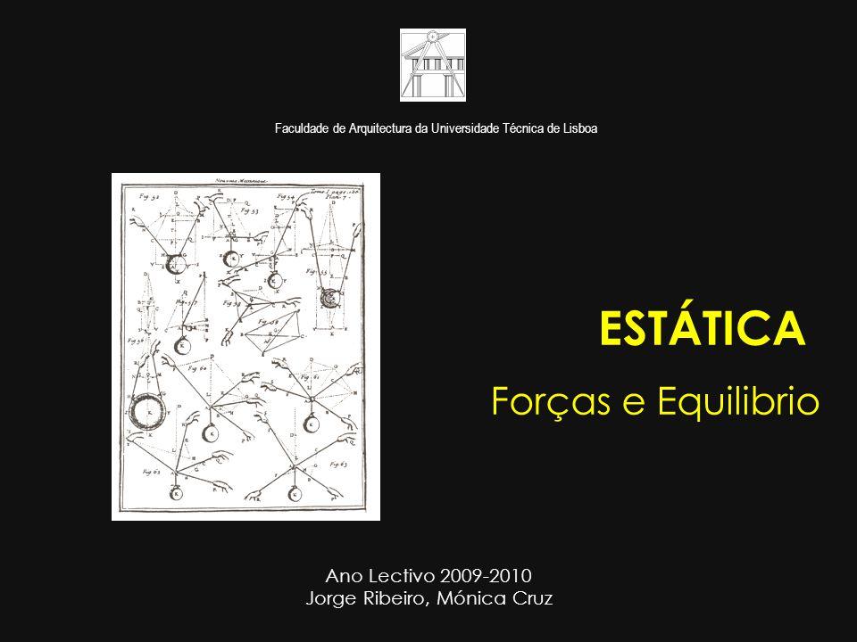 Faculdade de Arquitectura da Universidade Técnica de Lisboa ESTÁTICA Forças e Equilibrio Ano Lectivo 2009-2010 Jorge Ribeiro, Mónica Cruz