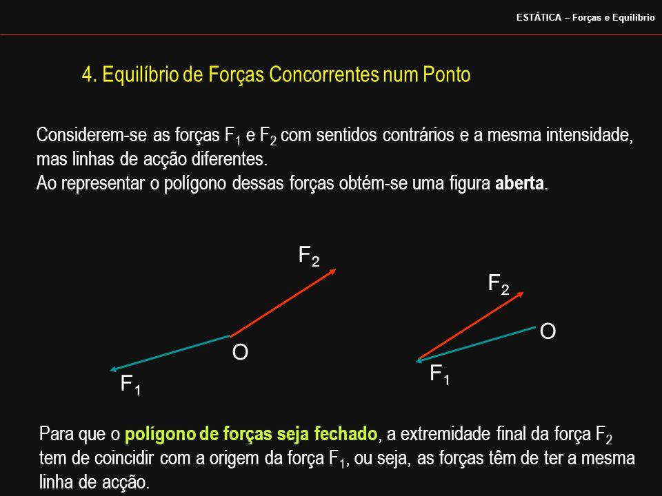 F1F1 F2F2 O F2F2 O F1F1 Considerem-se as forças F 1 e F 2 com sentidos contrários e a mesma intensidade, mas linhas de acção diferentes. Ao representa