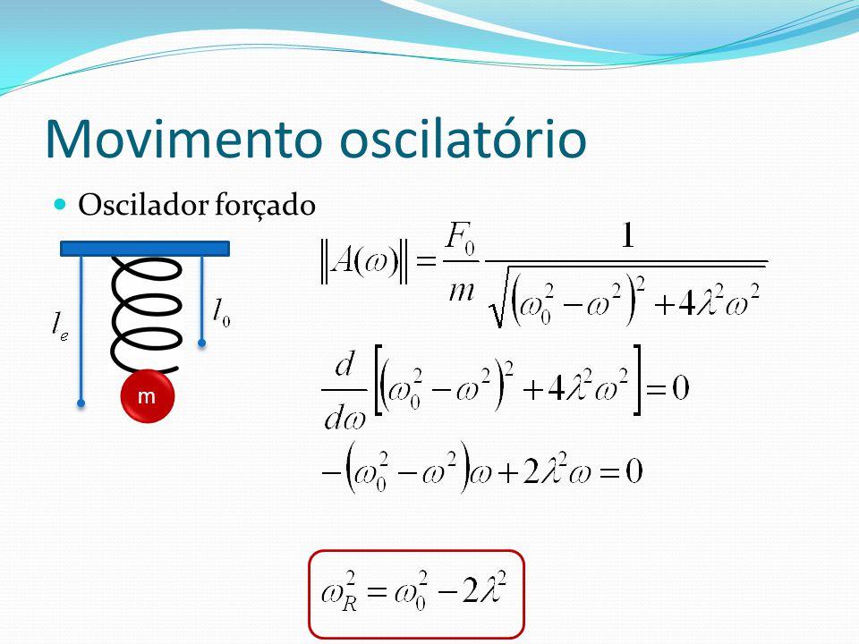 Movimento oscilatório Oscilador forçado m