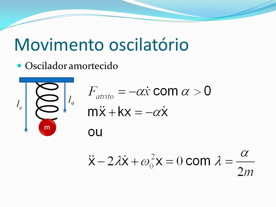 Solução da equação das ondas Seja f(x) a solução da equação para t=0.