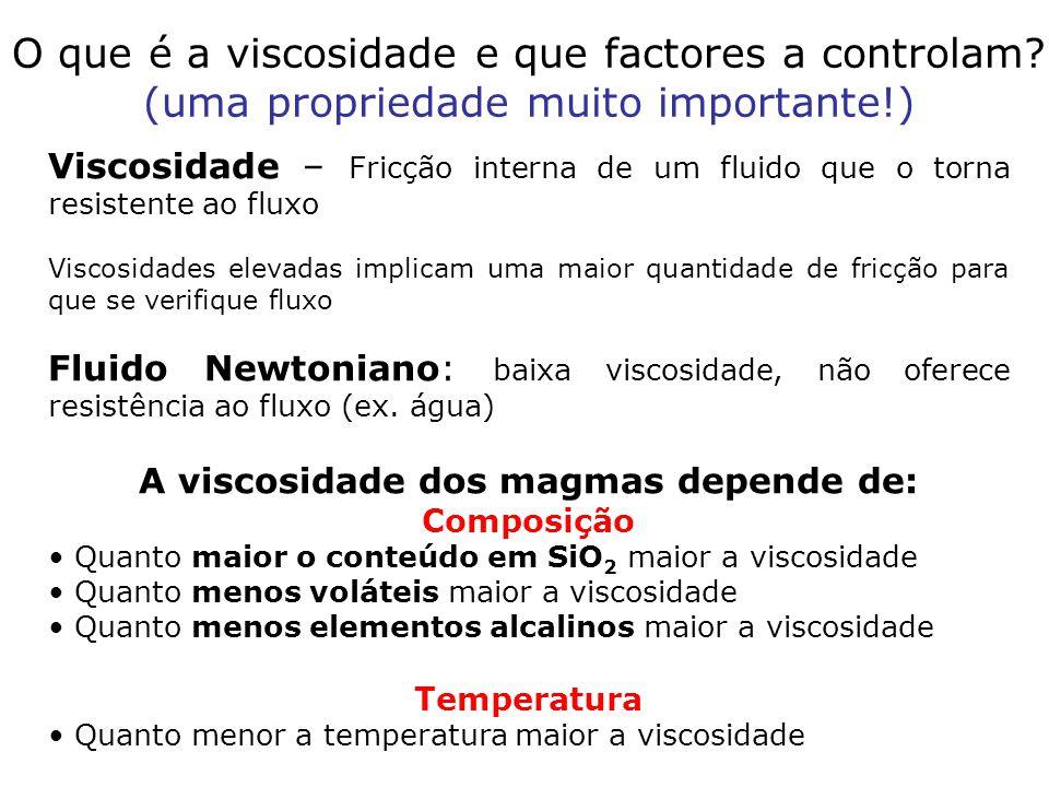 Viscosidade – Fricção interna de um fluido que o torna resistente ao fluxo Viscosidades elevadas implicam uma maior quantidade de fricção para que se