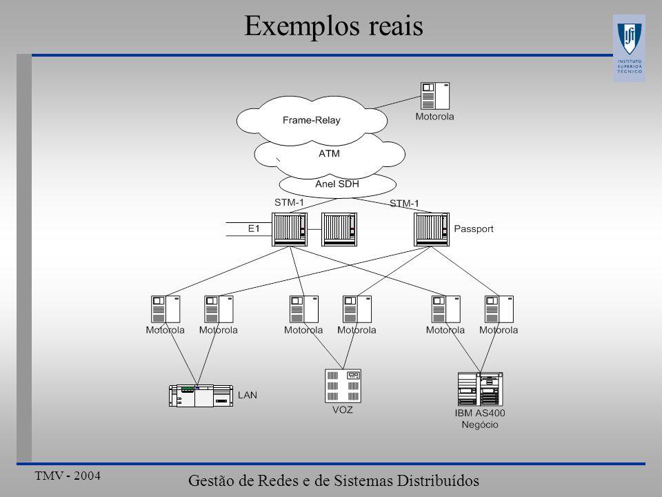 TMV - 2004 Gestão de Redes e de Sistemas Distribuídos Exemplos reais