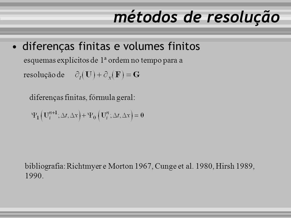 diferenças finitas e volumes finitos métodos de resolução diferenças finitas, fórmula geral: esquemas explícitos de 1ª ordem no tempo para a resolução