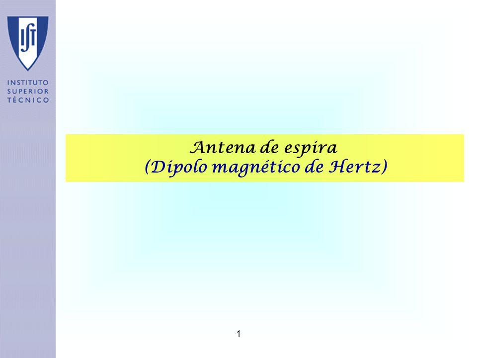 1 Antena de espira (Dipolo magnético de Hertz)