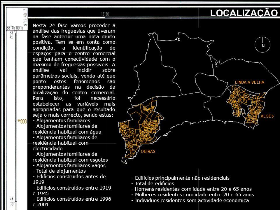 OEIRAS ALGÉS LINDA-A-VELHA LOCALIZAÇÃO Nesta 2ª fase vamos proceder á análise das freguesias que tiveram na fase anterior uma nota muito positiva. Tem