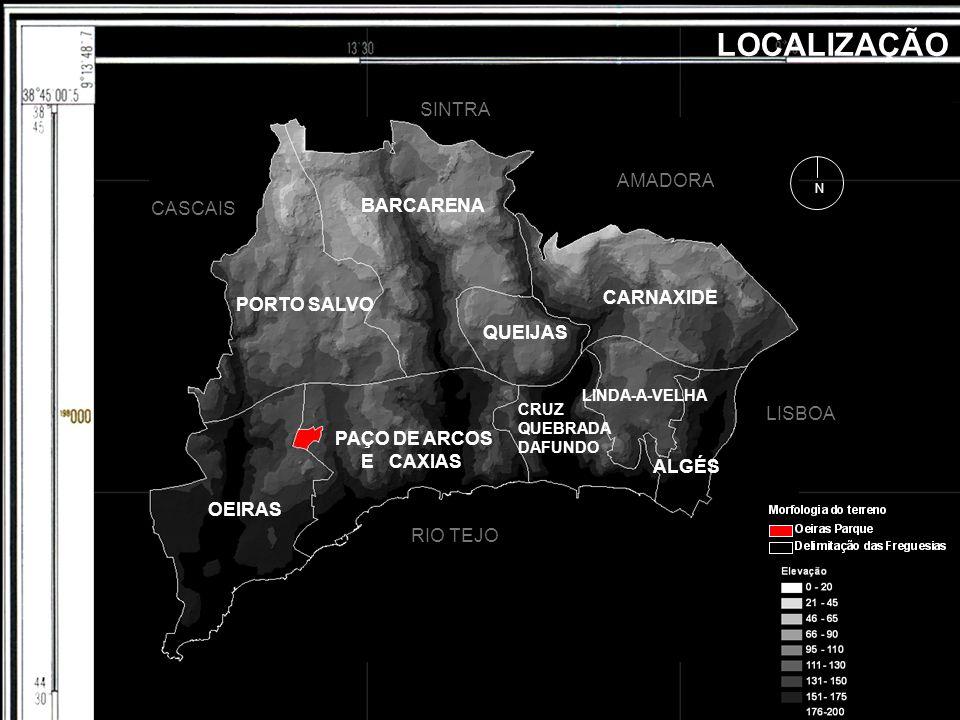 LOCALIZAÇÃO RIO RIO TEJO BARCARENA CARNAXIDE PORTO SALVO OEIRAS PAÇO DE ARCOS E CAXIAS CRUZ QUEBRADA DAFUNDO LINDA-A-VELHA ALGÉS QUEIJAS RIO TEJO LISB