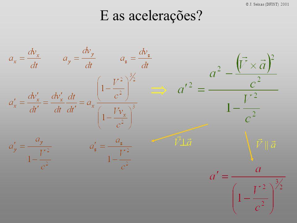 E as acelerações?