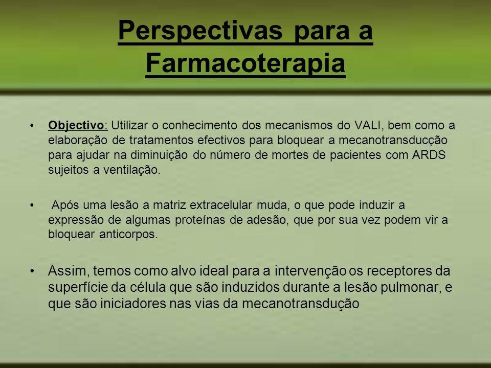 Perspectivas para a Farmacoterapia Objectivo: Utilizar o conhecimento dos mecanismos do VALI, bem como a elaboração de tratamentos efectivos para bloq