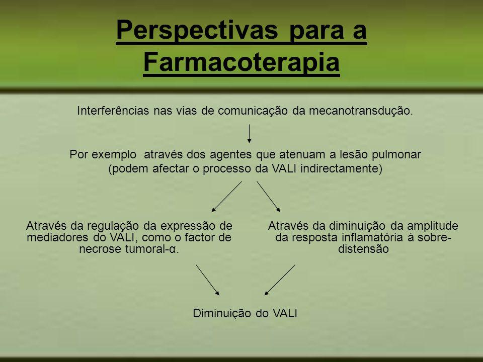 Perspectivas para a Farmacoterapia Através da regulação da expressão de mediadores do VALI, como o factor de necrose tumoral-α. Através da diminuição