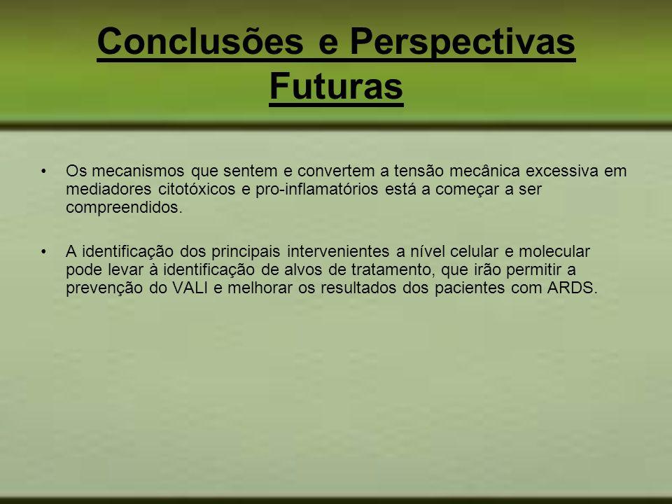 Conclusões e Perspectivas Futuras Os mecanismos que sentem e convertem a tensão mecânica excessiva em mediadores citotóxicos e pro-inflamatórios está