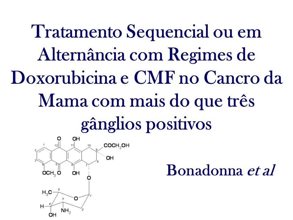Tratamento Sequencial ou em Alternância com Regimes de Doxorubicina e CMF no Cancro da Mama com mais do que três gânglios positivos Bonadonna et al