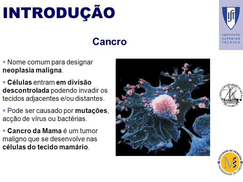 Cancro Nome comum para designar neoplasia maligna.