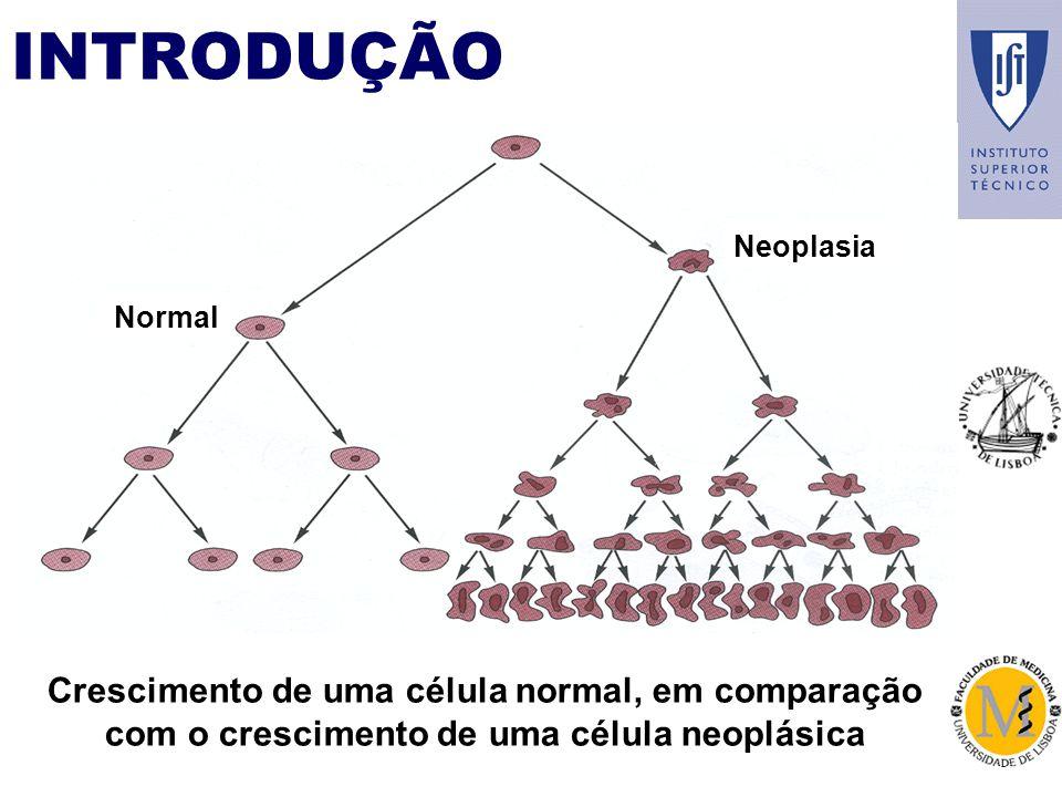 INTRODUÇÃO Neoplasia Normal Crescimento de uma célula normal, em comparação com o crescimento de uma célula neoplásica