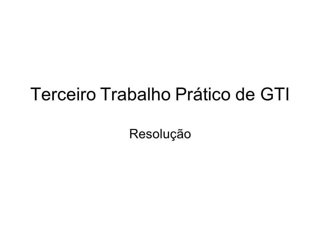 Terceiro Trabalho Prático de GTI Resolução