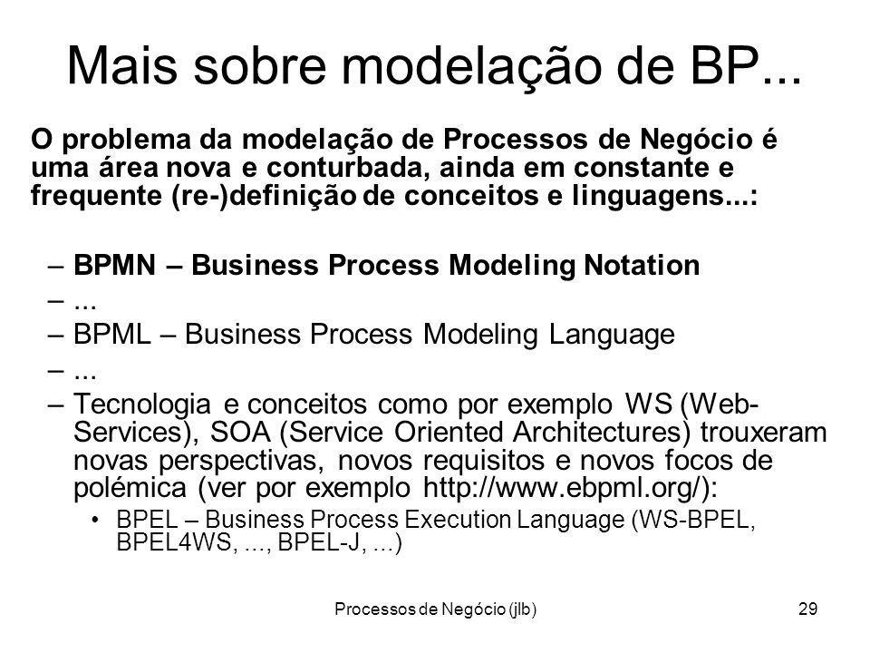 Processos de Negócio (jlb)29 Mais sobre modelação de BP...