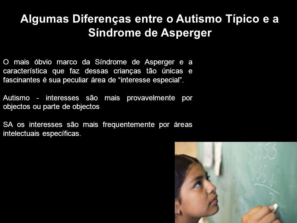 O mais óbvio marco da Síndrome de Asperger e a característica que faz dessas crianças tão únicas e fascinantes é sua peculiar área de interesse especial.