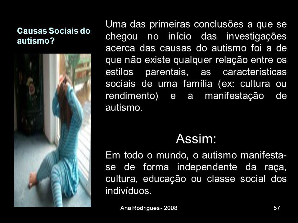 Causas Sociais do autismo.