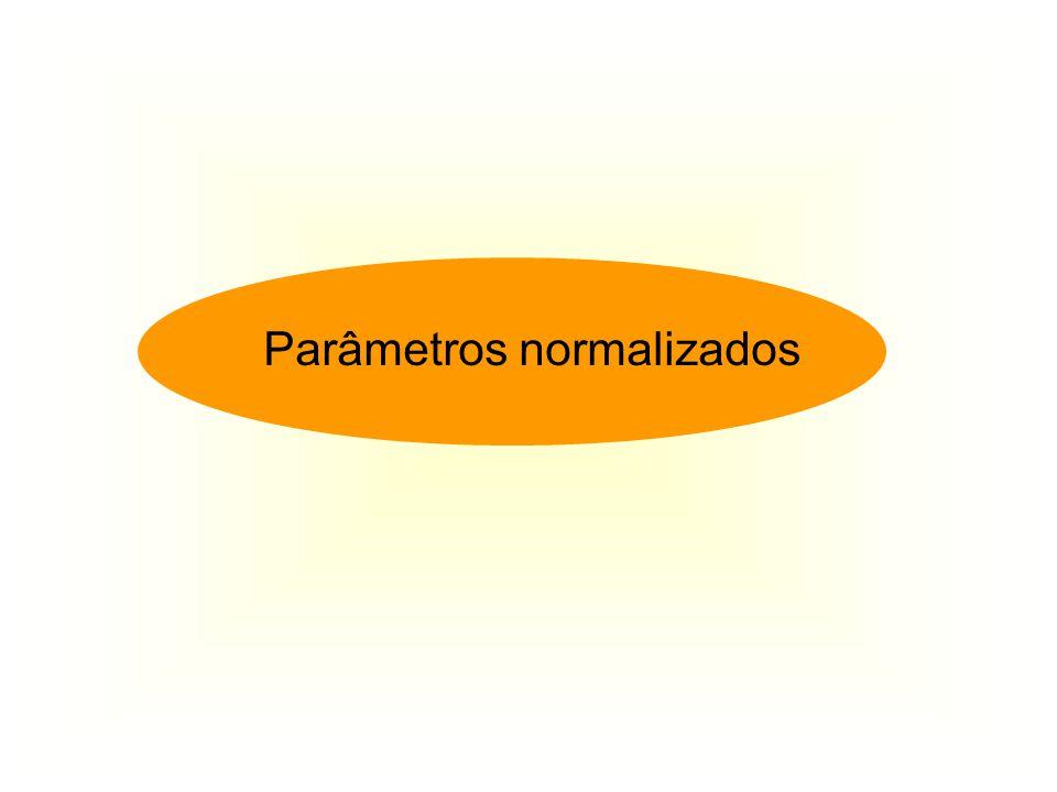 Parâmetros normalizados