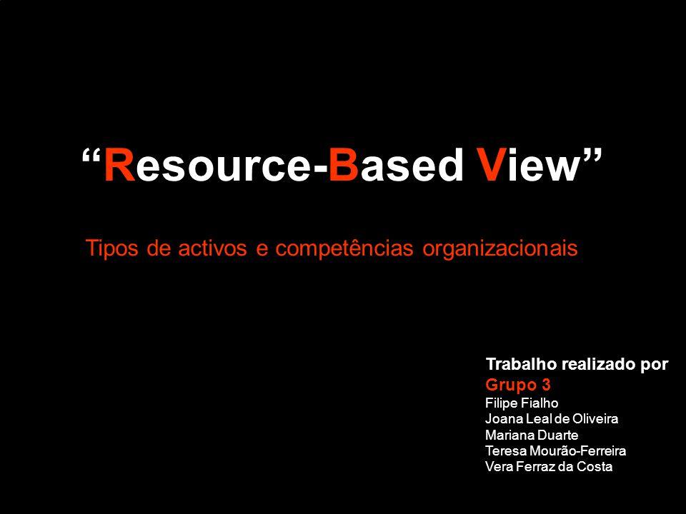 Resource-Based View Trabalho realizado por Grupo 3 Filipe Fialho Joana Leal de Oliveira Mariana Duarte Teresa Mourão-Ferreira Vera Ferraz da Costa Tip