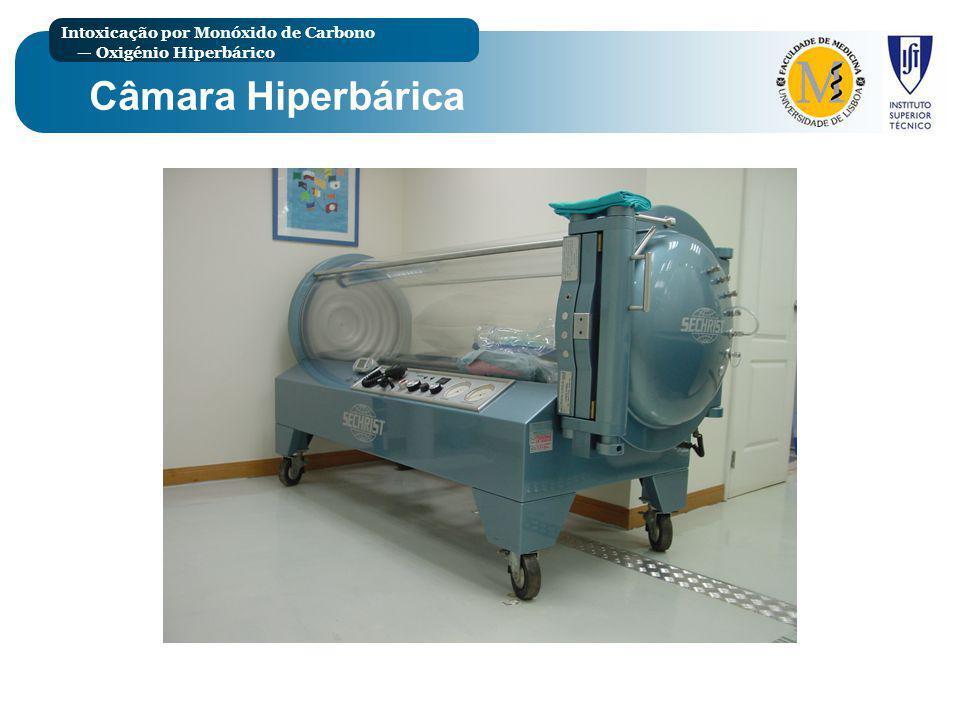 Intoxicação por Monóxido de Carbono Oxigénio Hiperbárico Câmara Hiperbárica