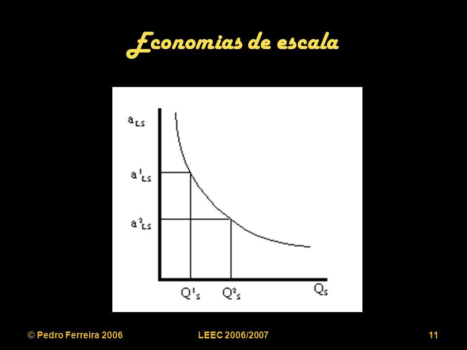 © Pedro Ferreira 2006LEEC 2006/200711 Economias de escala