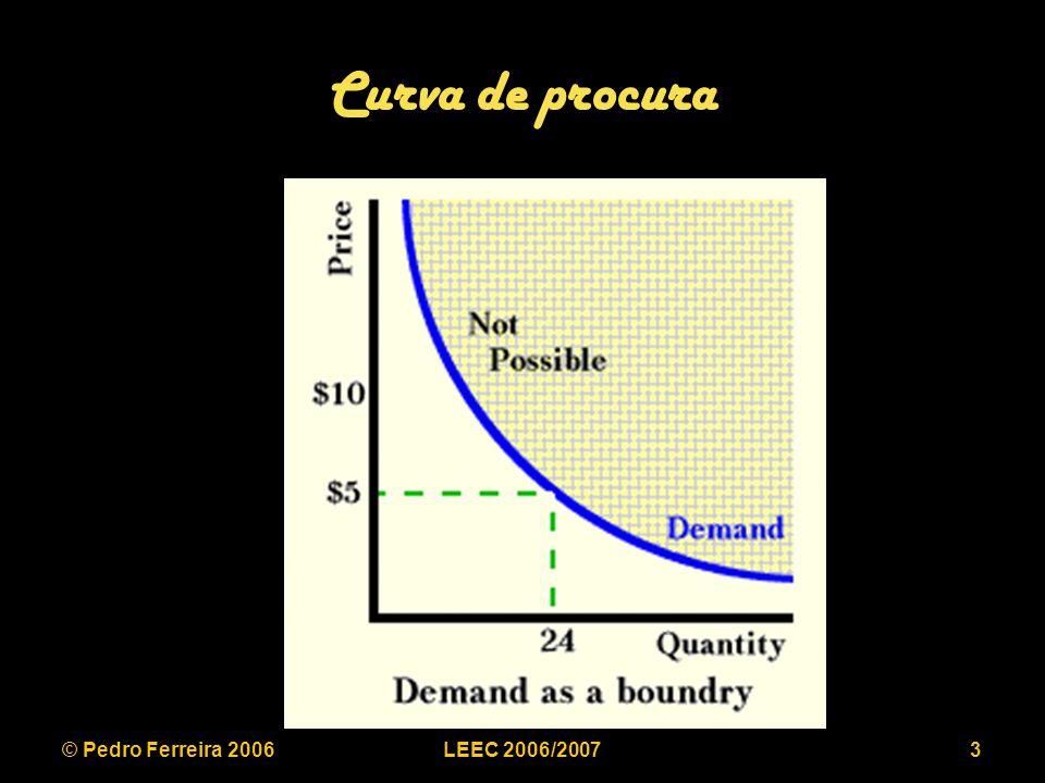 © Pedro Ferreira 2006LEEC 2006/200724 Regulação de taxa de retorno e/ou preços Dificuldades: –Qual a verdadeira estrutura de custos (DO).