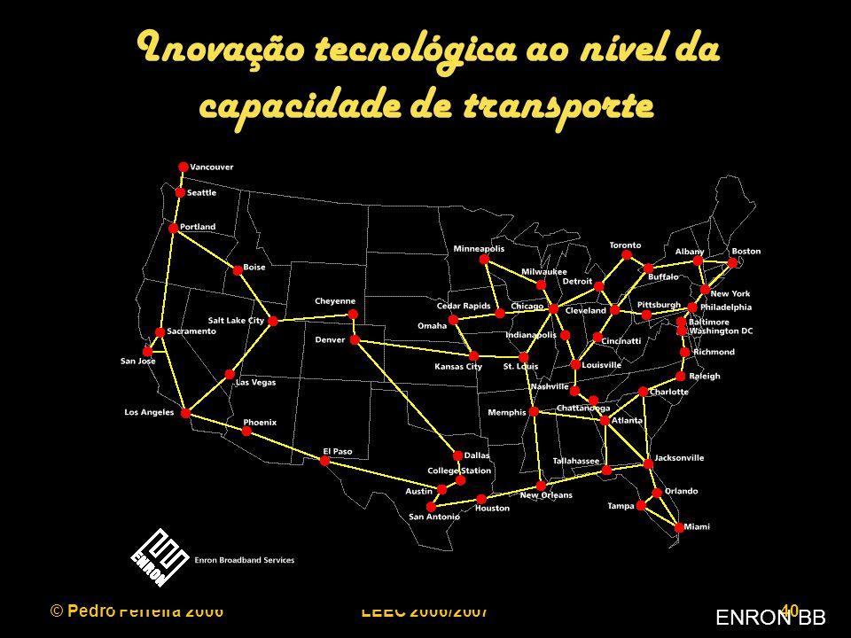 © Pedro Ferreira 2006LEEC 2006/200740 Inovação tecnológica ao nível da capacidade de transporte ENRON BB