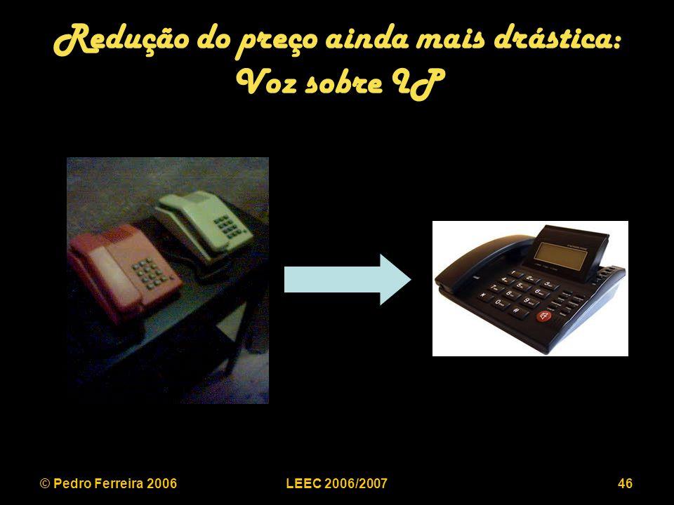 © Pedro Ferreira 2006LEEC 2006/200746 Redução do preço ainda mais drástica: Voz sobre IP