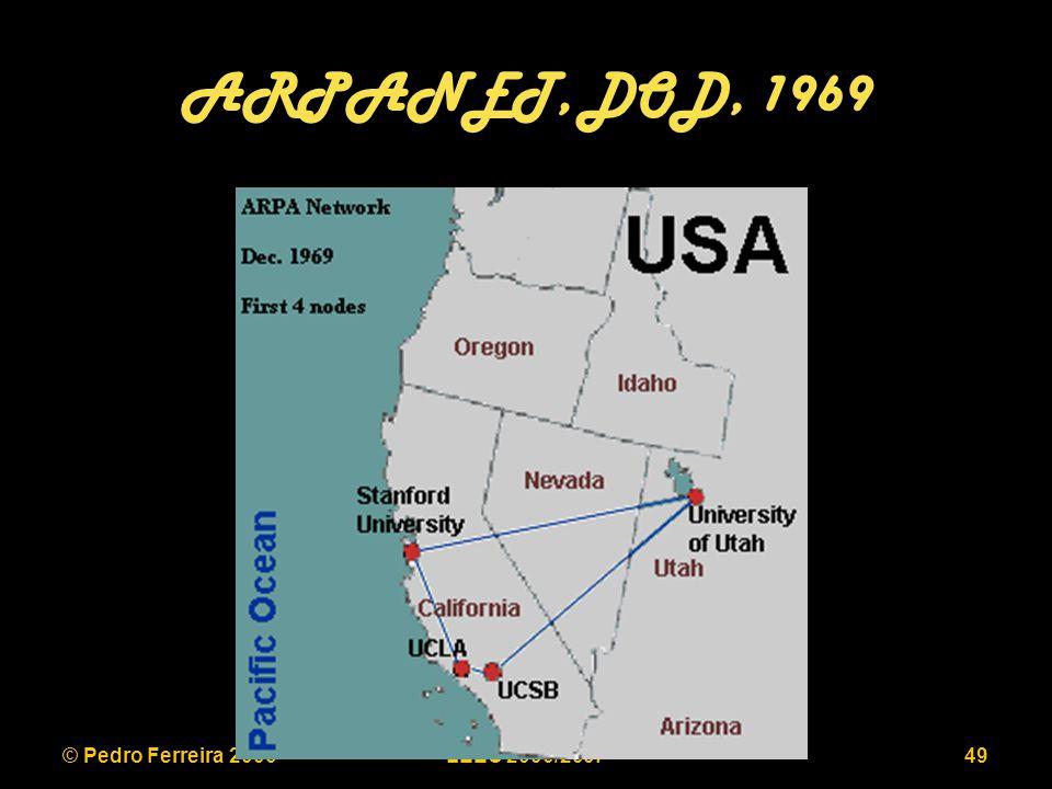 © Pedro Ferreira 2006LEEC 2006/200749 ARPANET, DOD, 1969