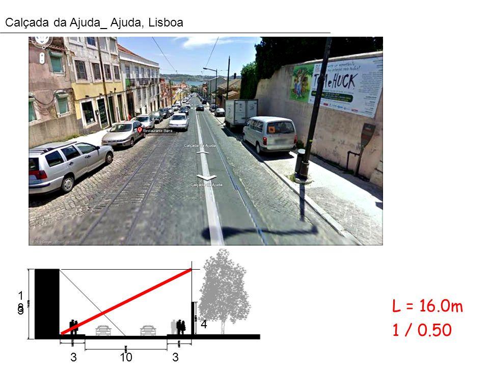 Calçada da Ajuda_ Ajuda, Lisboa 1313 8 4 3103 1 / 0.50 L = 16.0m