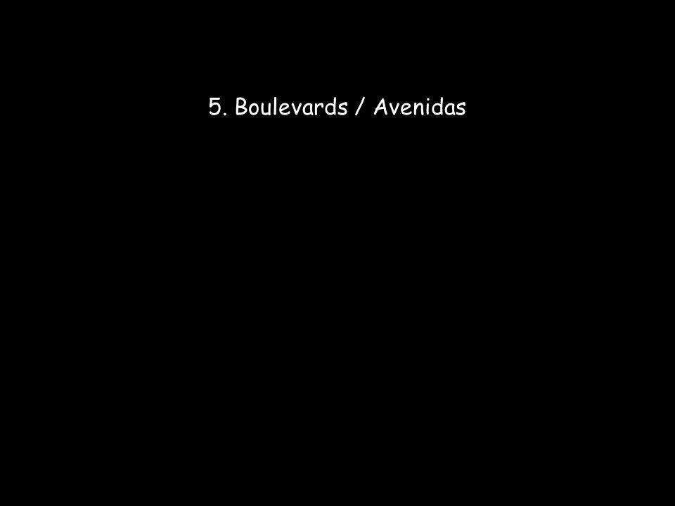 5. Boulevards / Avenidas