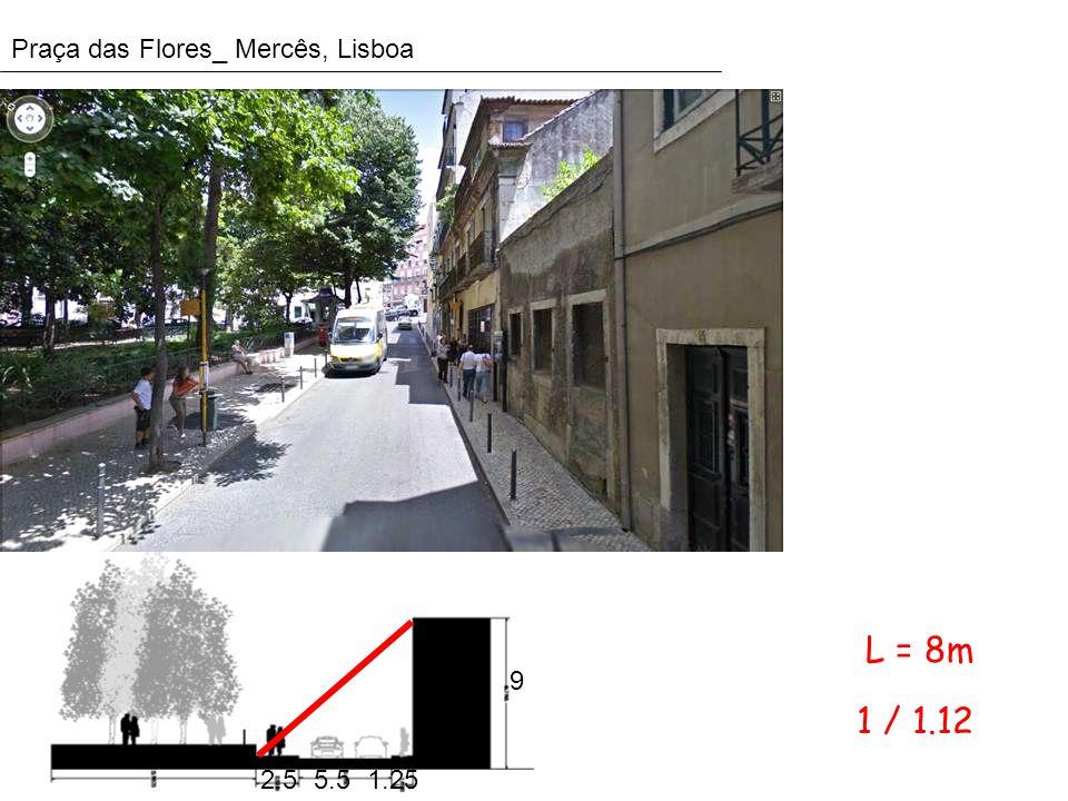 Praça das Flores_ Mercês, Lisboa 2.51.25 9 5.5 1 / 1.12 L = 8m