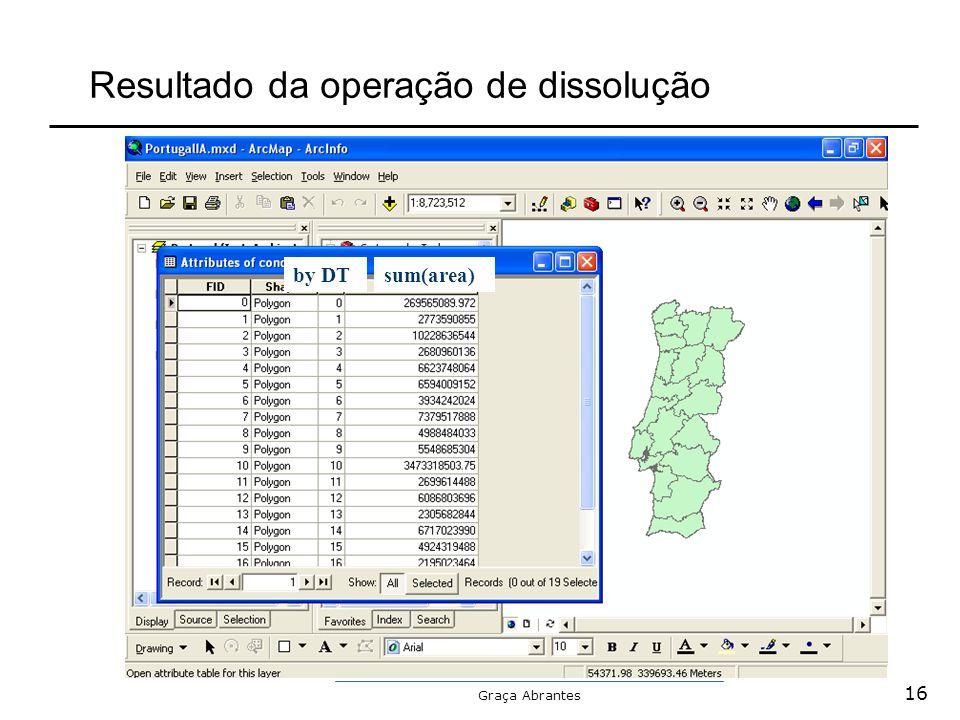 Graça Abrantes Resultado da operação de dissolução by DTsum(area) 16