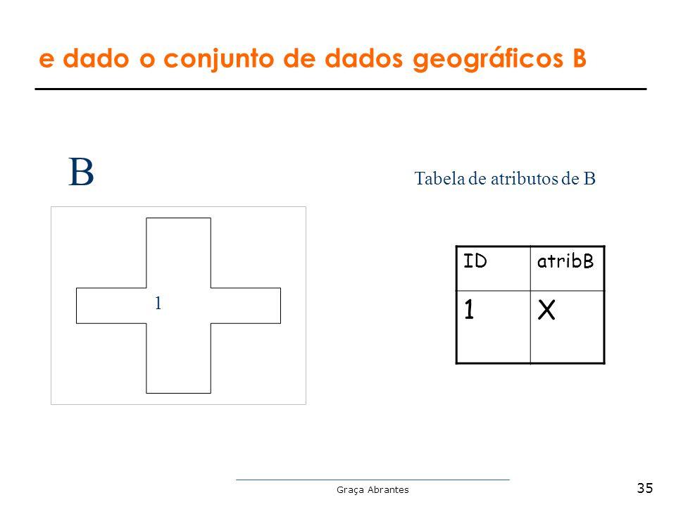 Graça Abrantes 1 Tabela de atributos de B IDatribB 1X B e dado o conjunto de dados geográficos B 35