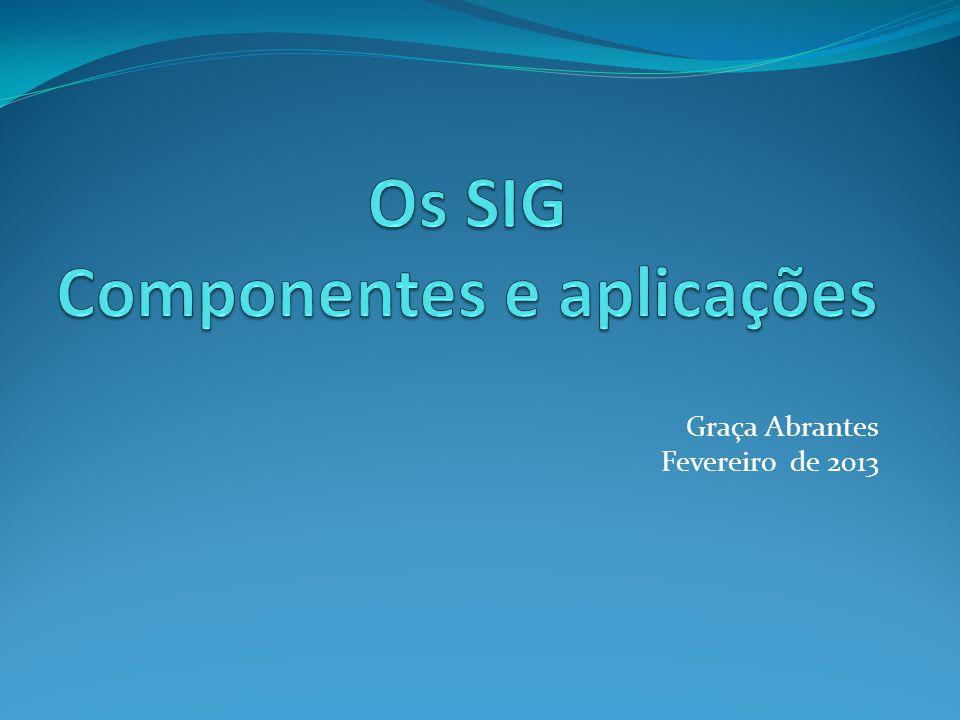 Tópicos Multidisciplinaridade dos SIG Tecnologia Aplicações Dados Recursos humanos 2