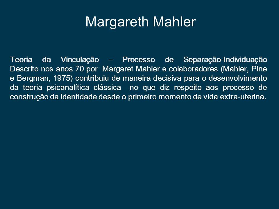 Teoria da Vinculação – Processo de Separação-Individuação Descrito nos anos 70 por Margaret Mahler e colaboradores (Mahler, Pine e Bergman, 1975) cont