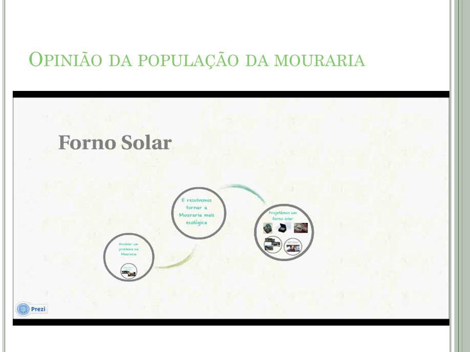 O PINIÃO DA POPULAÇÃO DA MOURARIA