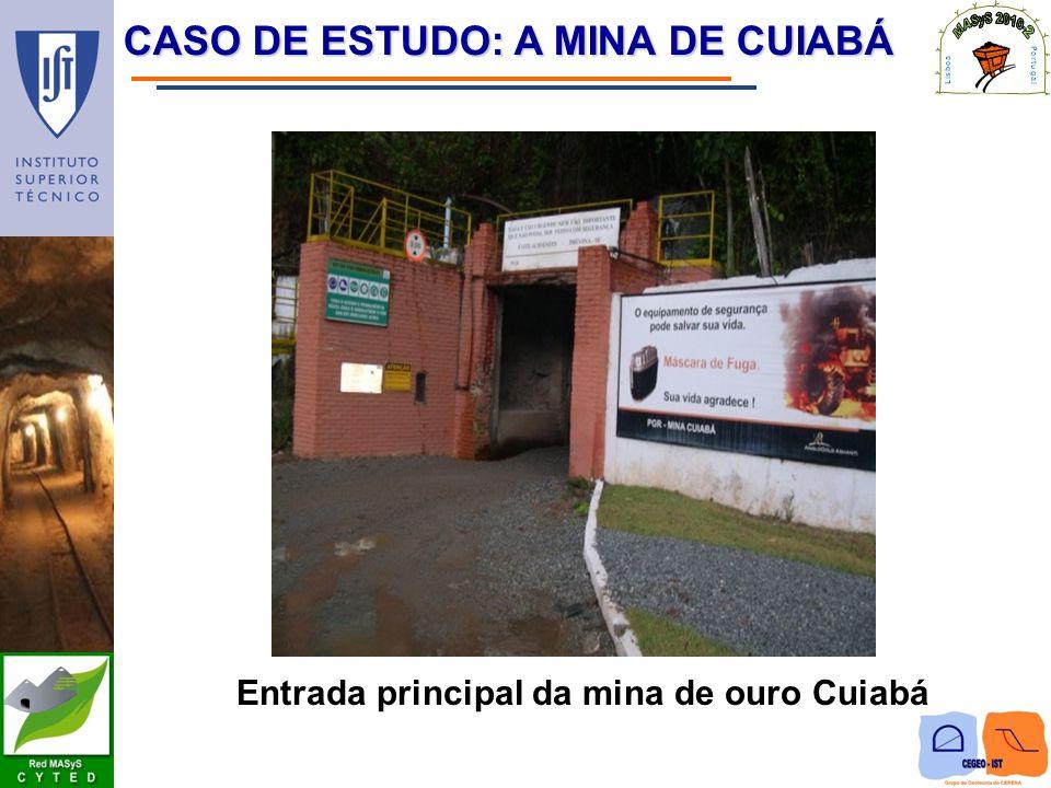 CASO DE ESTUDO: A MINA DE CUIABÁ Entrada principal da mina de ouro Cuiabá