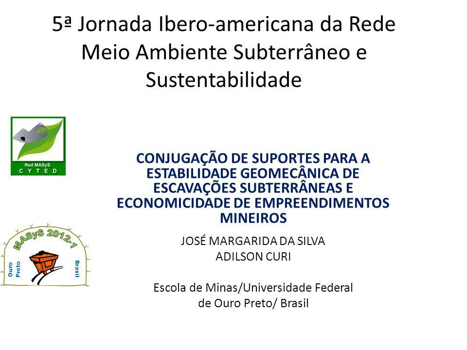 5ª Jornada Ibero-americana da Rede Meio Ambiente Subterrâneo e Sustentabilidade CONJUGAÇÃO DE SUPORTES PARA A ESTABILIDADE GEOMECÂNICA DE ESCAVAÇÕES S