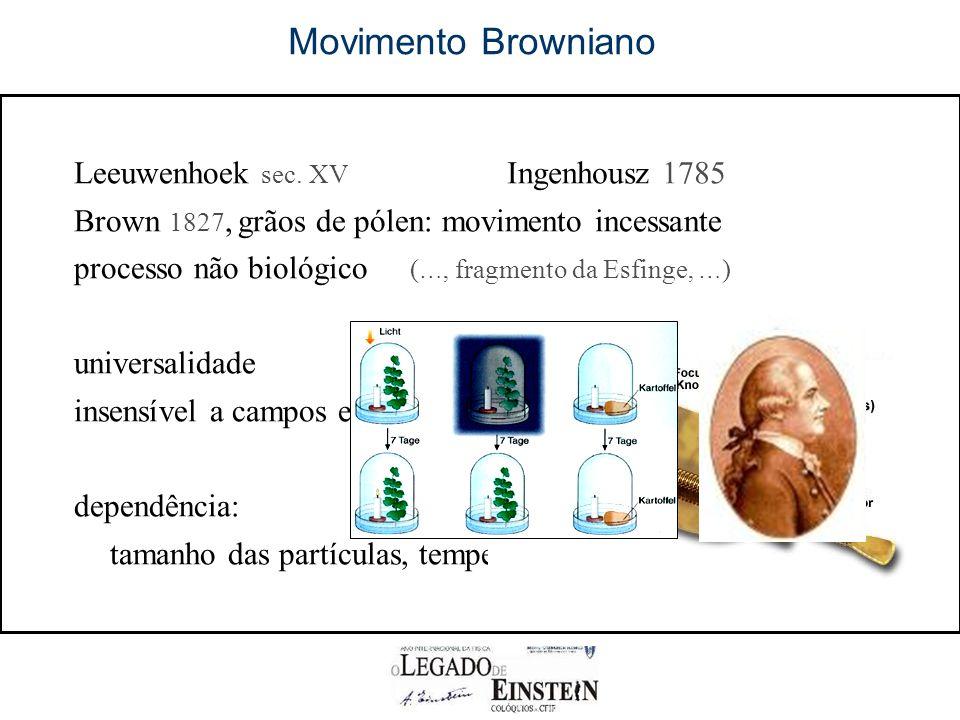 Movimento Browniano Leeuwenhoek sec.