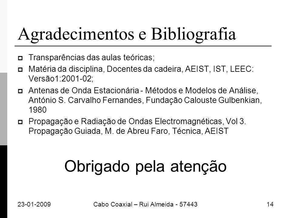 Agradecimentos e Bibliografia Transparências das aulas teóricas; Matéria da disciplina, Docentes da cadeira, AEIST, IST, LEEC: Versão1:2001-02; Antena